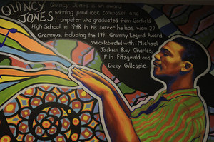 Garfield High's Quincy Jones has scored dozens of movies, won 27 Grammy's and collaborated with Ray Charles, Ella Fitzgerald, Dizzy Gillespie and Michael Jackson among the many legendary music figures. He graduated in 1948.