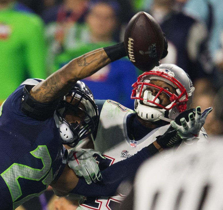 Could Tharold Simon, here in Super Bowl XLIX, step up next year as a starter at the other cornerback spot? (Dean Rutz / The Seattle Times)
