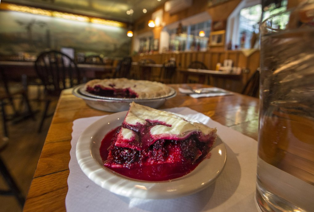 House-made blackberry pie has long been a specialty at the Copper Creek Inn restaurant. These days, the berries come from Oregon. (Steve Ringman/The Seattle Times)