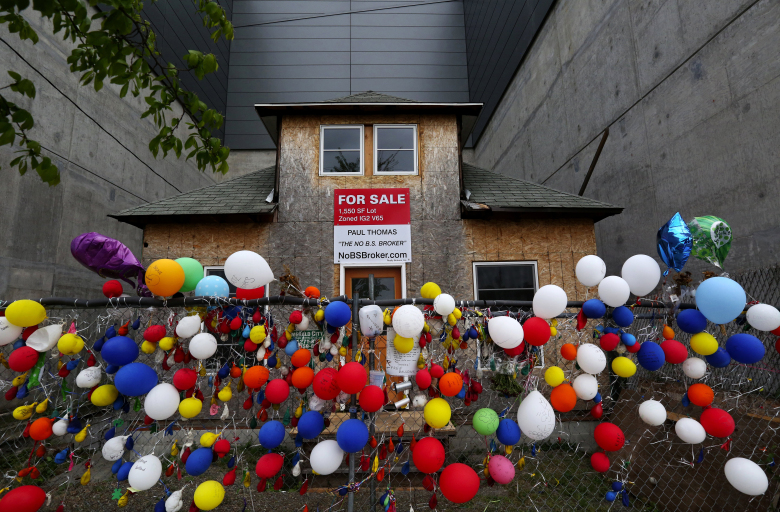 Edith Macefield's small Ballard bungalow became known as the 'Up' house after the 2009 Pixar movie. (Alan Berner/The Seattle Times)