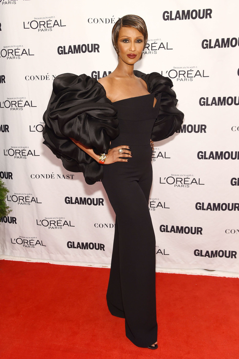 Model Iman attends 2015 Glamour Women Of The Year Awards at Carnegie Hall on November 9, 2015 in New York City.