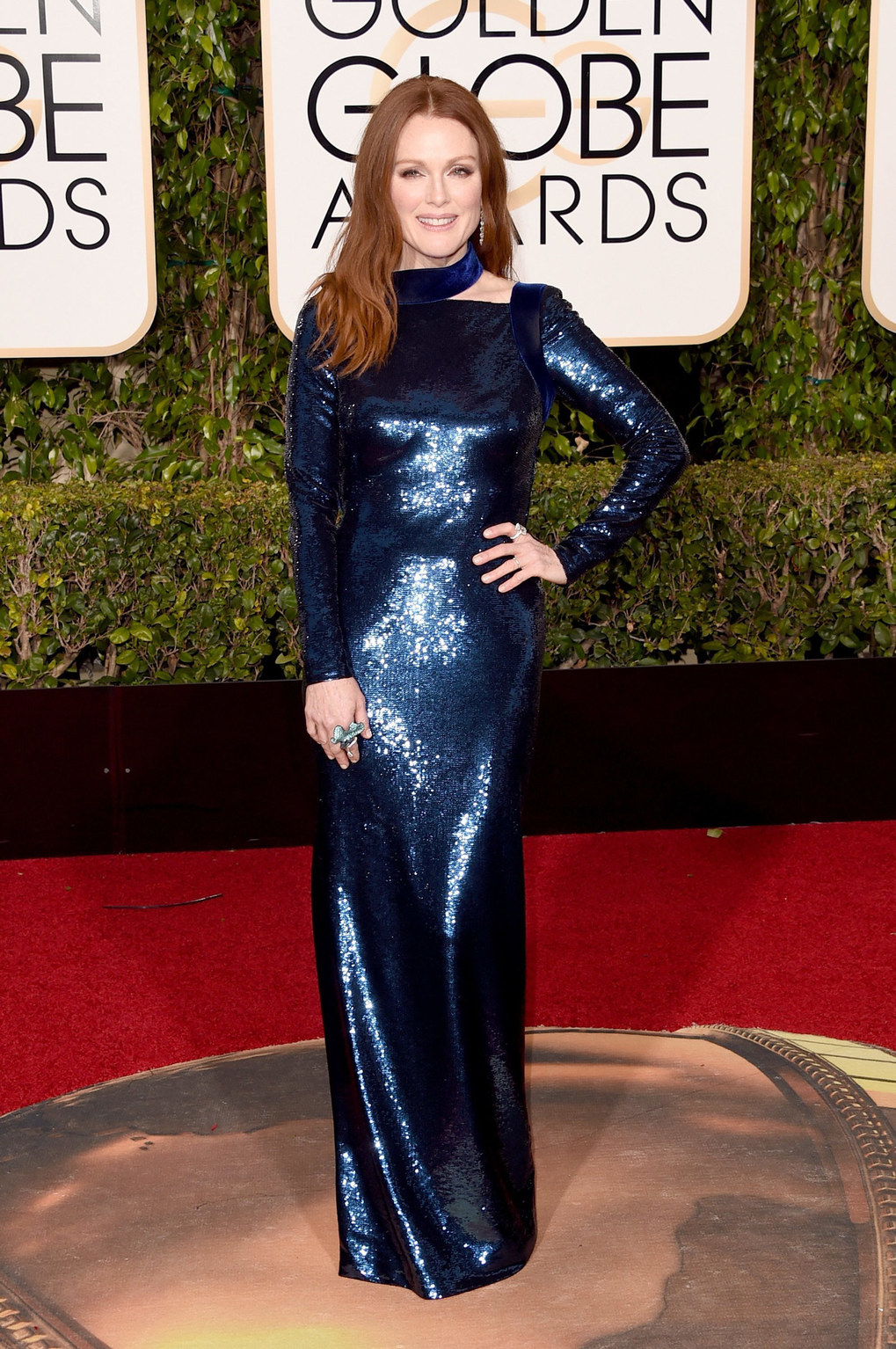 Actress Julianne Moore attends the 73rd Annual Golden Globe Awards held at the Beverly Hilton Hotel on January 10, 2016 in Beverly Hills, California.  (Photo by Jason Merritt/Getty Images)