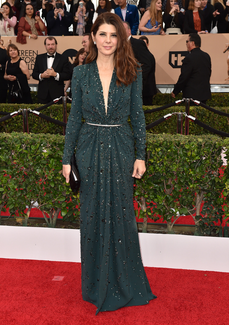 Marisa Tomei arrives at the 22nd annual Screen Actors Guild Awards at the Shrine Auditorium & Expo Hall on Saturday, Jan. 30, 2016, in Los Angeles. (Photo by Jordan Strauss/Invision/AP)