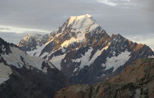 This March 30, 2014 photo shows Mt. Cook, New Zealand's highest mountain, at sunset in Twizel, New Zealand. (AP Photo/Carey J. Williams)