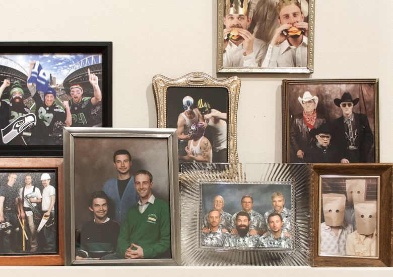 "For ""Puzzle Parts & Sears Portraits,"" Seattle art trio SuttonBeresCuller took 13 years' worth of cheesy ""family portraits"" at Sears in costume."