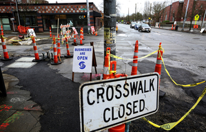 Small businesses along 23rd Ave. at Cherry St. are upset with the city over a massive construction project, Tues., Jan.