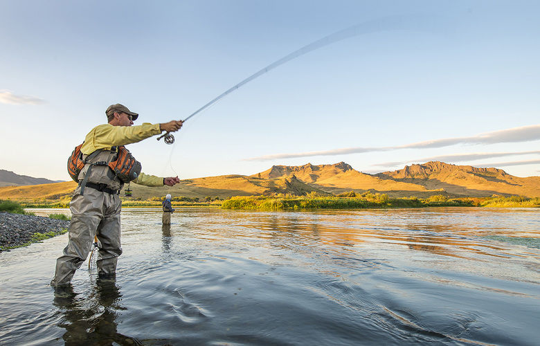 Fly fishing, Great Falls, Montana