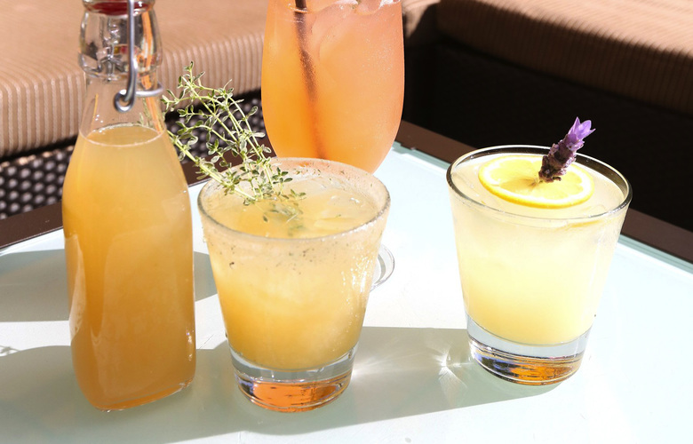 At the sunny outdoor patio at Hotel Pan Pacific, several of their drinks are herb influenced.