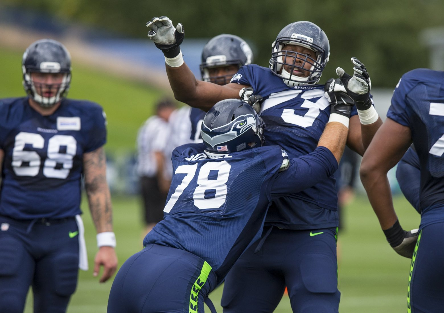 Seahawks appear ready to throw J'Marcus Webb into the left tack…