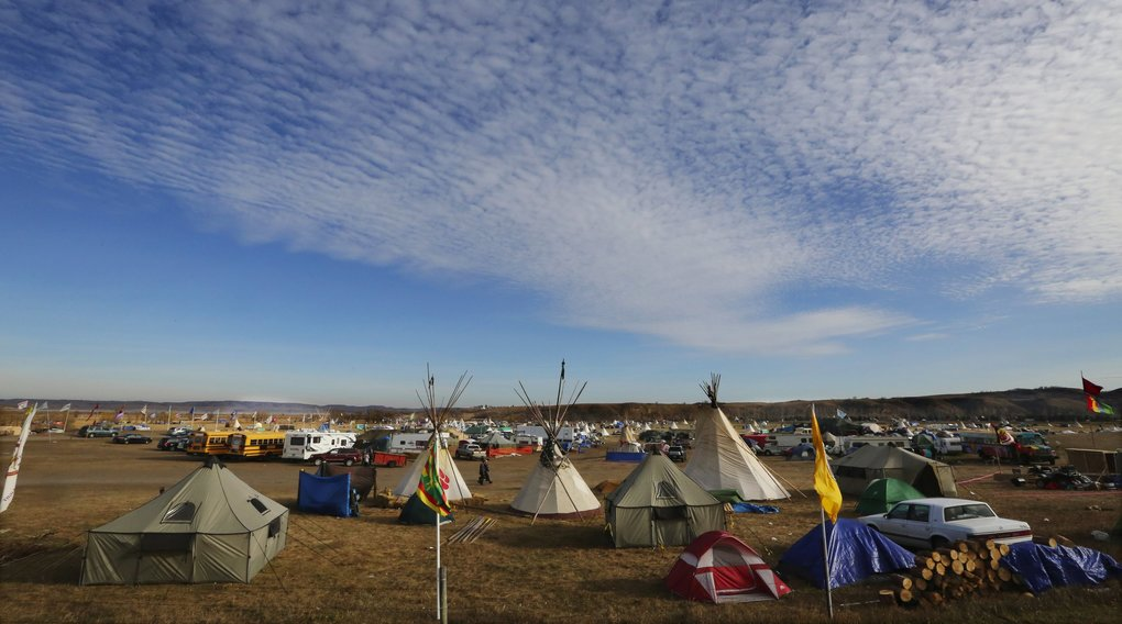 Many Dakota Access Pipeline protesters in North Dakota stay in tents and RVs. (Alan Berner / The Seattle Times)