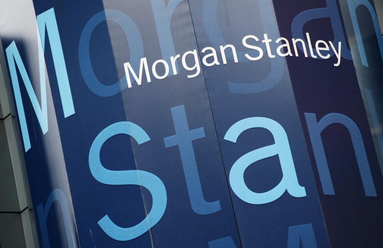 FILE – In this Tuesday, Oct. 18, 2011, file photo, the Morgan Stanley logo is displayed on its Times Square building, in New York. Morgan Stanley reports financial results Wednesday, Oct. 19, 2016. (AP Photo/Mark Lennihan, File)