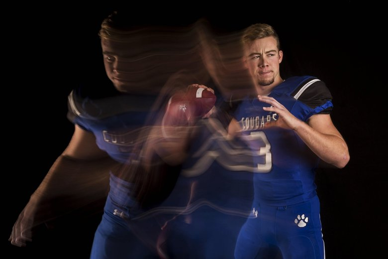 Bothell High School QB Jacob Sirmon has been committed to UW since he was a sophomore. (Logan Riely/The Seattle Times)