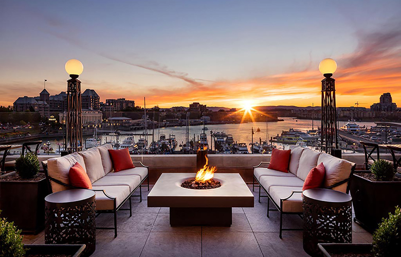 Soak in sweeping views of Victoria's Inner Harbour from the Fairmont Empress. (Clipper Vacations)