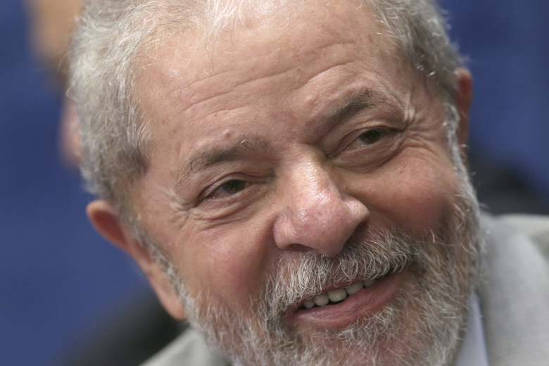 FILE – In this Aug. 29, 2016 file photo, Brazil's former President Luiz Inacio Lula da Silva attends the impeachment trial of suspended President Dilma Rousseff, in Brasilia, Brazil. Silva is facing several corruption charges, Brazil's largest-ever graft probe has decimated the political party he founded and his hand-picked successor was impeached and ousted from office. Yet the former leader, known to Brazilians simply as Lula, is topping polls for the 2018 presidential race. (AP Photo/Eraldo Peres, File)