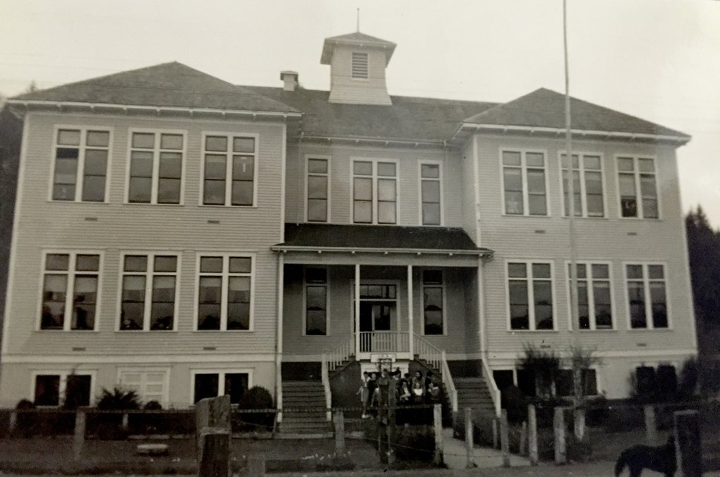 Valley High School in 1936. (Photo courtesy of Willapa Valley High School)