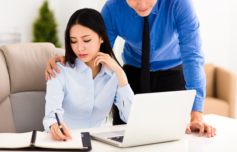 Unwelcome touching can be considered sexual harassment. (Thinkstock)