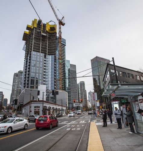 Record construction frenzy sweeps downtown seattle more for Seattle builders