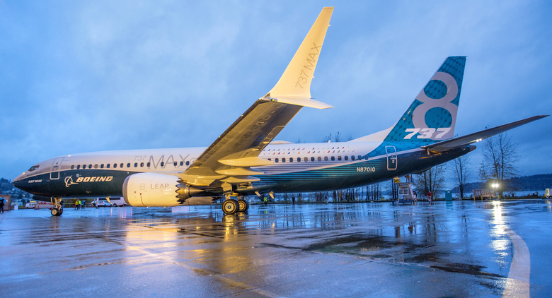 Chinese aircraft lessor CDB Aviation Lease Finance has placed an order for 30 of Boeing's new single-aisle 737 MAX 8 jets. The first 737 MAX 8 rolled out of the final assembly plant in Renton in December 2015.  (Mike Siegel/The Seattle Times)