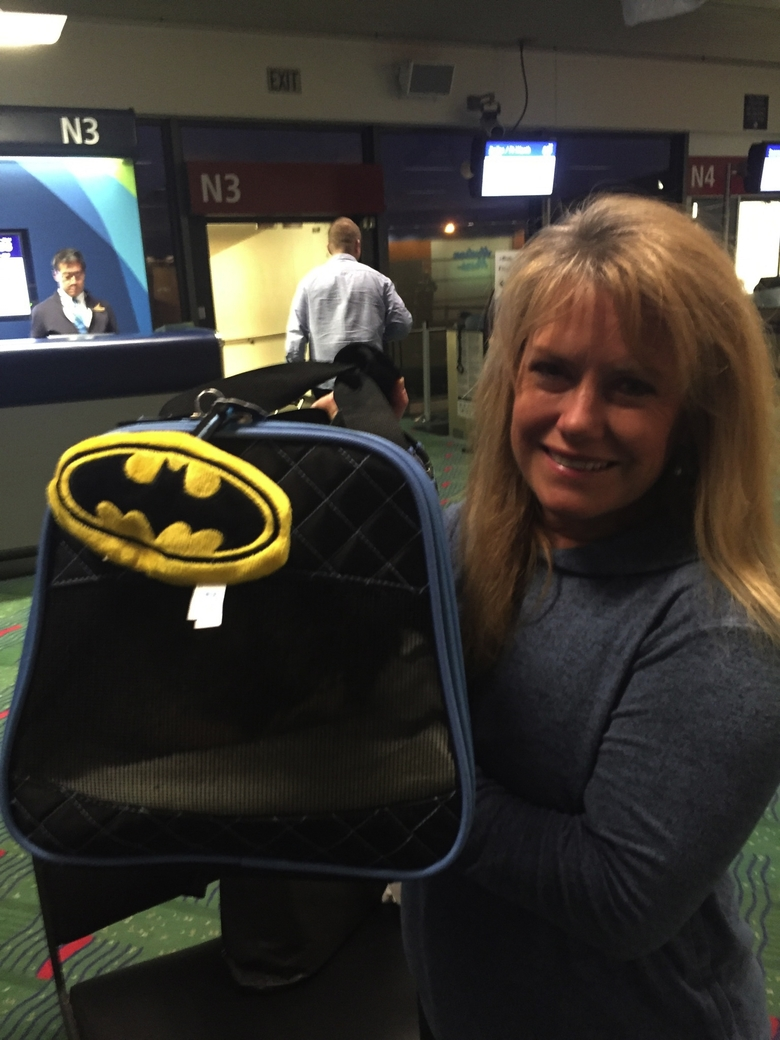 Lisa Rousseau, the Port of Seattle employee who delivered Batman the cat to Washington, D.C.  (Port of Seattle)