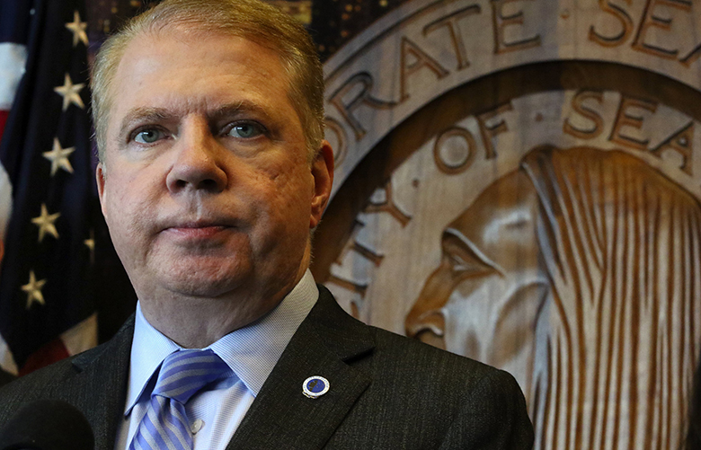 "At a late morning press conference, Mayor Ed Murray said ""please do not lose hope.""  He then went to a rally in the lobby of City Hall with another half-dozen speakers, post-election.   Wed Nov 9. 2016"