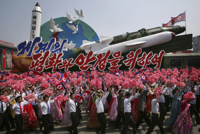 North Korea celebrates military anniversary with massive firing drill
