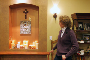 Connie Chapin displays an area devoted to prayer in her Extreme Makeover House in Kirkland.