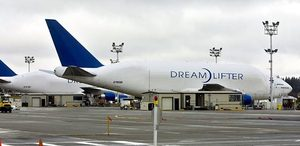 These Dreamlifters sitting at Paine Field in January are modified Boeing 747s used to carry huge parts of the 787 made by the Dreamliner's suppliers to the Everett plant for final assembly.