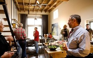 "Weekend evenings may be quiet on the outside, but inside the Mighty Tieton lofts, the drinks and potluck food flow freely as an ever-changing assortment of loft owners and guests congregates in each other's homes. ""As Philip (Christophides) says, it's like a cruise ship — constant partying,"" Marquand jokes."