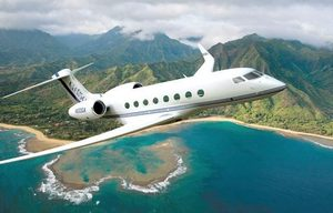 This rendering shows a Gulfstream G650, due out in 2012. Earlier this year, business moguls were competing for a chance to buy the $60 million plane.