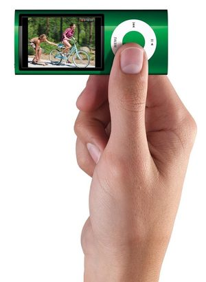 The iPod nano now has a video camera, a bright, clear 640-by-480 image that travels at 30 frames per second, so it looks nearly HD.