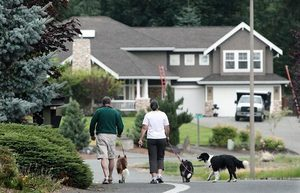 Much of Maltby has an old-town feel, but the area also includes developments with newer homes, such as the The Summit at Highland Vista, where residents enjoy leisurely walks with their dogs.