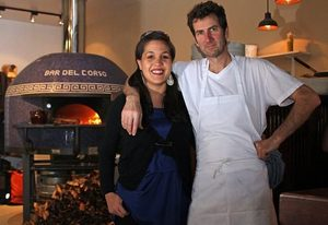 Chef Jerry Corso and his wife, Gina, own Bar del Corso, an Italian pizzeria and cucina at the former site of the Beacon Pub. The wood-fired pizza oven was imported from Italy, but the chanterelle mushrooms used recently were fresh and local. :