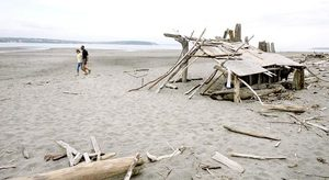At Double Bluff beach, a scenic beach park about a 10-minute drive from Langley, you can hike two miles up the undeveloped beach or build a shelter from the ample supply of driftwood.