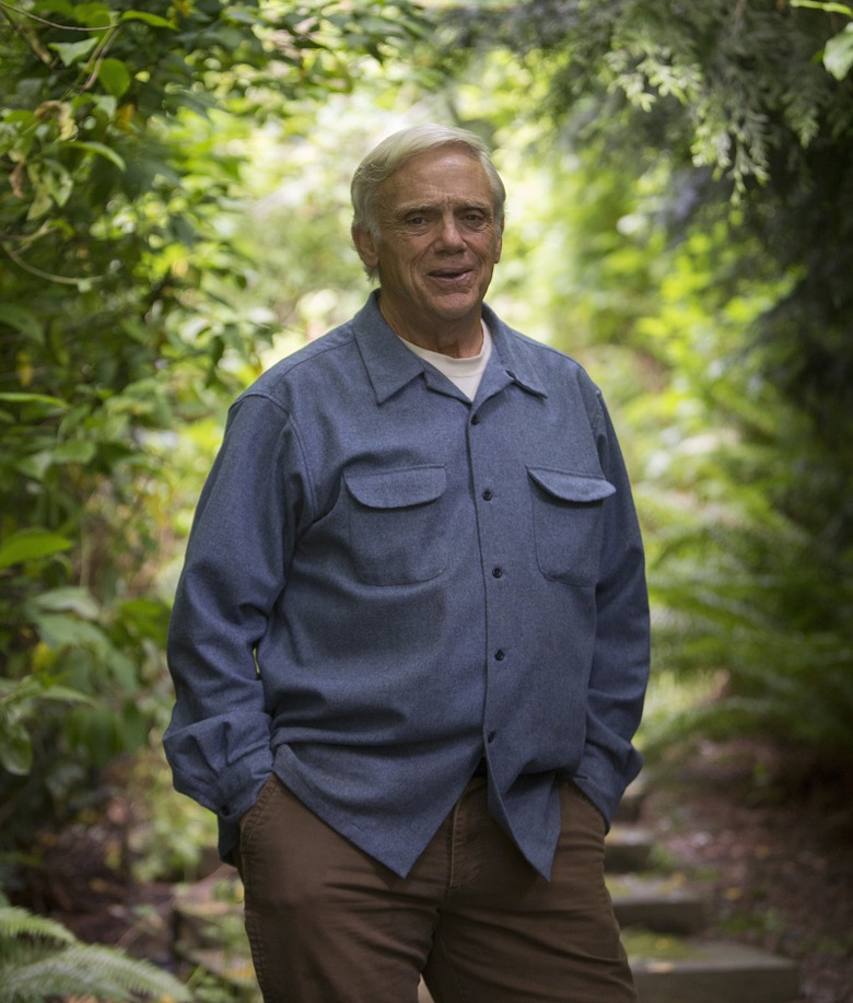 Field guide author Craig MacGowan, a retired marine-science teacher, is surrounded by greenery just 20 steps from his Seattle home.
