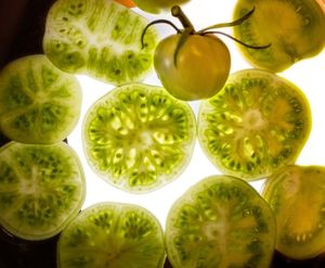At summer's end, what to do with all those leftover green tomatoes? Green tomato and apple chutney is one good choice.