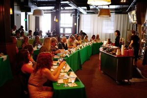 A view of the Tom Douglas Summer Culinary Camp at the Palace Ballroom in downtown Seattle. 2013 was the last year for this annual event as the company prepares to open a new culinary center for classes at the Hotel Andra in Belltown.