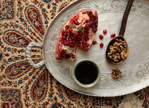 Fresh pomegranate, walnuts and pomegranate molasses enrich Nancy Leson's version of the Persian stew fesenjan.