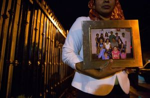 It's been nine years since Flor Barahona has seen her family in El Salvador. They sent her the photograph soon after she left her country, intending to support the household and her father's health.