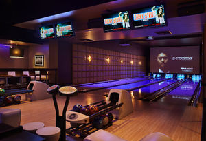 At Lucky Strike, the Luxe is a private room that features four bowling lanes. The room is popular with pro athletes, and is rented out for corporate events, birthday bashes, bachelor and bachelorette parties and other occasions.