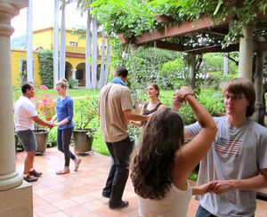 Spanish-immersion school isn't all work and no play. You can also take salsa lessons on the arbor-shaded patio at Instituto Cultural Oaxaca.
