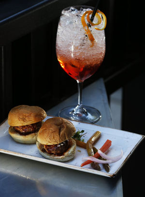 Wild-boar sliders at Intermezzo Carmine, an offshoot of Il Terrazzo Carmine, in Pioneer Square.