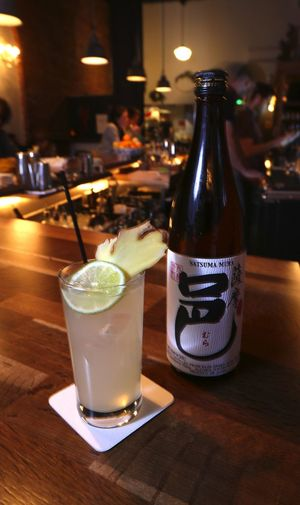 A Shochu Mule at Damn The Weather in Pioneer Square.
