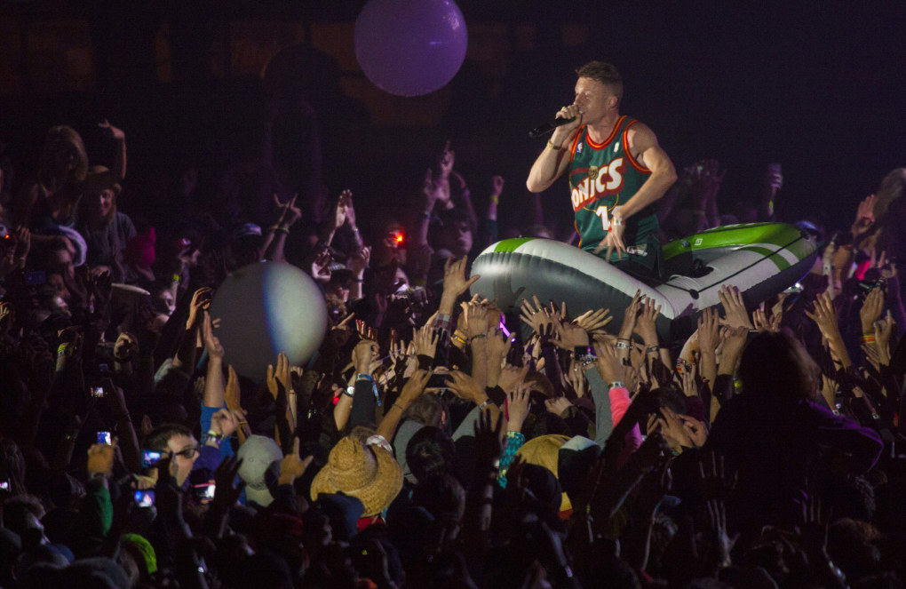 Macklemore & Ryan Lewis will perform a free show on Friday at Neumos. (Ellen M Banner / The Seattle Times)