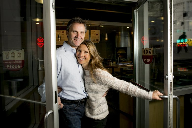 Scott and Ally Svenson are the co-founders of MOD Pizza, which is raising millions from investors to expand. Scott is the Chairman and CEO while Ally is the VP of Marketing.  (BETTINA HANSEN/The Seattle Times)