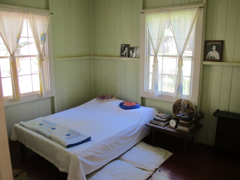 A bedroom in a plantation worker's home recreated at Hawaii's Plantation Village museum.  (Kristin Jackson / The Seattle Times)