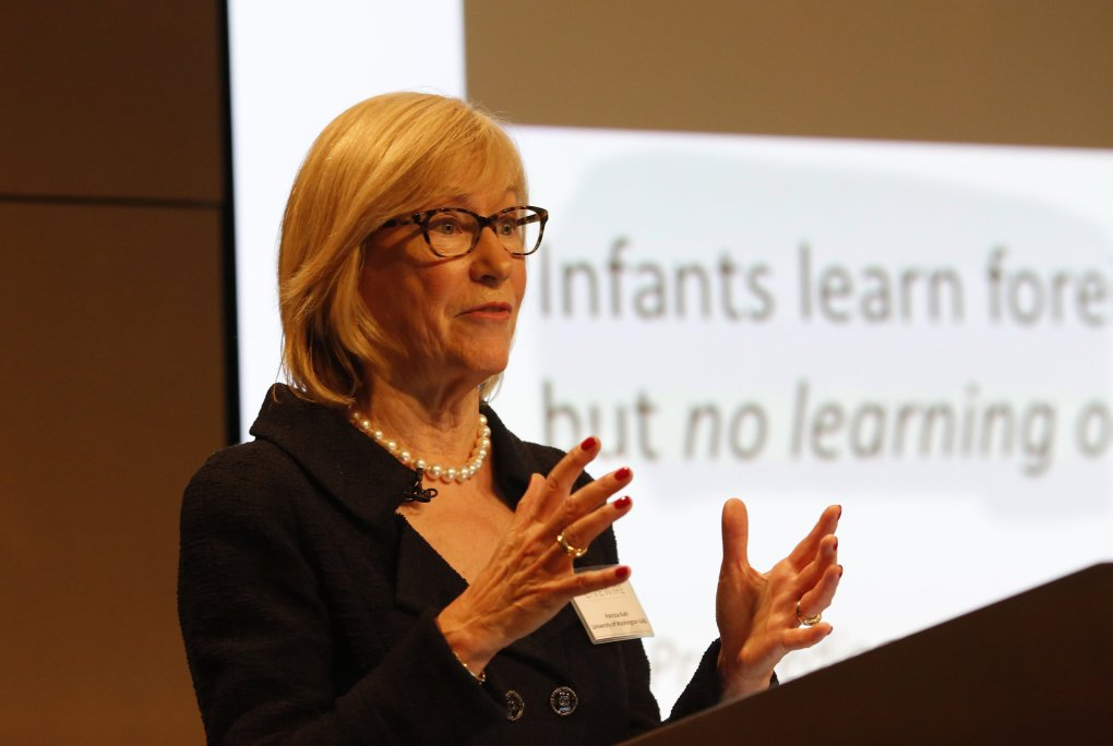Patricia Kuhl spoke about infant brain development during a Seattle Times LiveWire early-education event last fall. (Mark Harrison / The Seattle Times, 2014)
