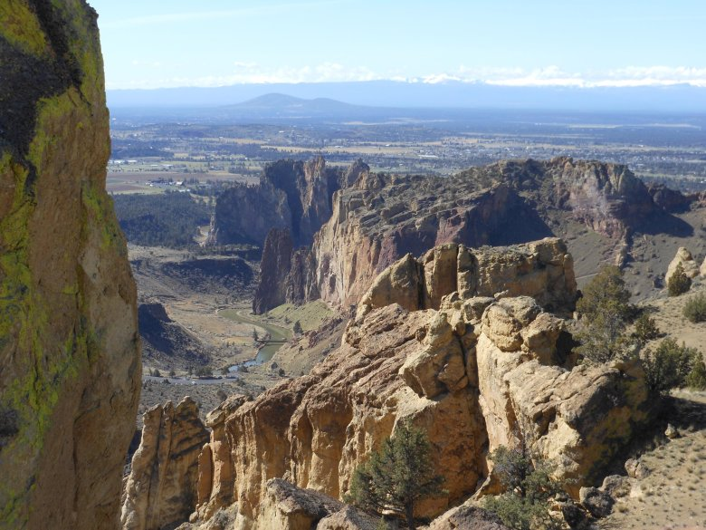 A view from Oregon's Smith Rock State Park. Taking the time to hike Burma Road and the Summit Trail at Smith Rock can lead to views such as this.  (Mark Morical/The Associated Press)