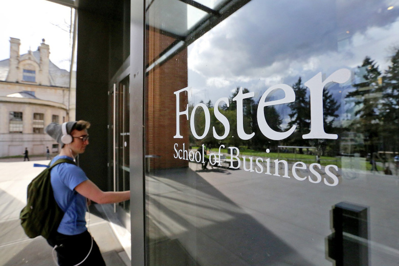 UW's Foster School of Business spent about $140,000 rebranding alumni's diplomas. A $50 million gift prompted the UW to adopt that name in 2007.  (Greg Gilbert/The Seattle Times)