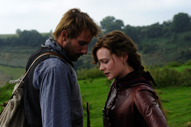"Matthias Schoenaerts as Gabriel Oak and Carey Mulligan as Bathsheba Everdeen in ""Far from the Madding Crowd."""