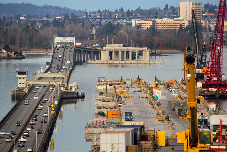 Included in the transportation package is $1.6 billion to finish the Highway 520 project from Lake Washington to Interstate 5 in Seattle.  (Mike Siegel / The Seattle Times)